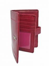 Nabo RFID-nahkalompakko, NK-246, punainen