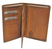 Nabo nahkainen RFID-lompakko, NK-252, Chestnut brown