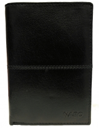 Nabo, miesten nahkainen RFID lompakko NK-201, musta
