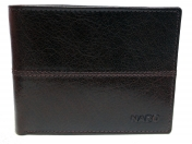 Nabo, miesten nahkainen RFID lompakko NK-204, ruskea