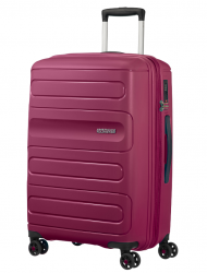 American Tourister Sunside keskisuuri matkalaukku, rasberry