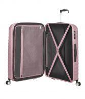 American Tourister Jetglam, suuri matkalaukku, Metallic Pink