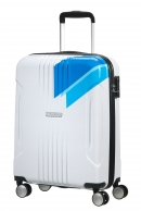 American Tourister Tracklite lentolaukku, Light blue stripes