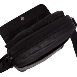 The Chesterfield Brand Remy, nahkainen olkalaukku, musta