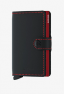 Secrid Miniwallet, Matte Black & Red