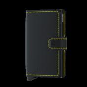 Secrid Miniwallet, Matte black & yellow