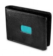 Honko Slide 2004 nahkainen RFID lompakko, musta/turkoosi