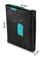 Honko Slim 2001 nahkainen RFID lompakko, musta/turkoosi