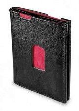 Honko Slim 2001 nahkainen RFID lompakko, musta/punainen