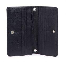 Tosca Blu Amburgo, nahkainen lompakkolaukku, musta